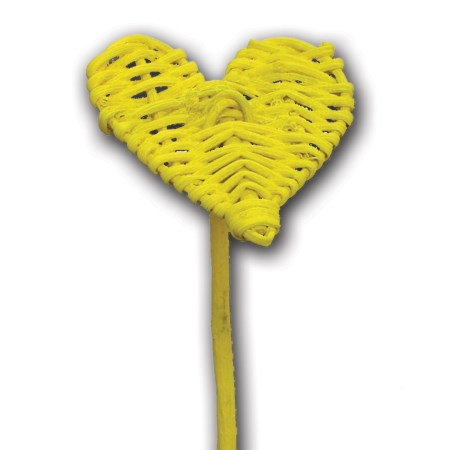 Lata heart on stem flat 'yellow'