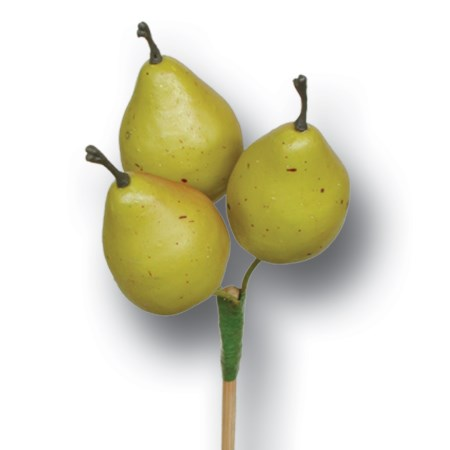 Pear 3 pc on stem 'green'