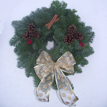 "Noble Fir Wreath '10""' Decorated"