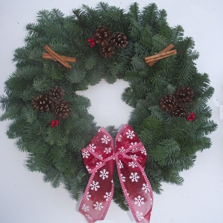 "Noble Fir Wreath '12""' Decorated"