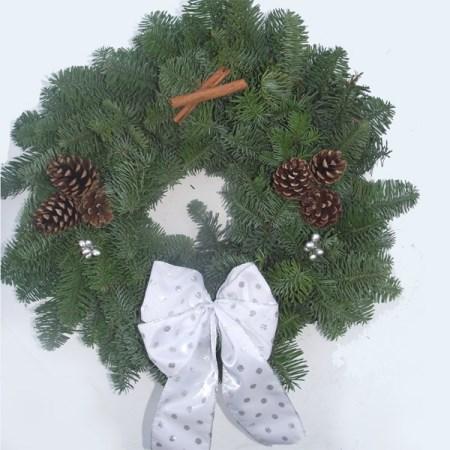 "Noble Fir Wreath '8""' Decorated"