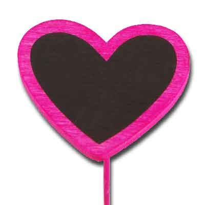 Blackboard Heart on stem 'Pink'