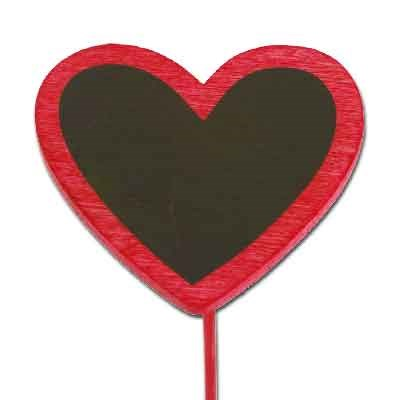 Blackboard Heart on stem 'Red'