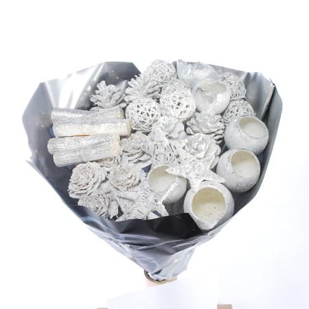 Mixed Pack 'White with silver glitter'