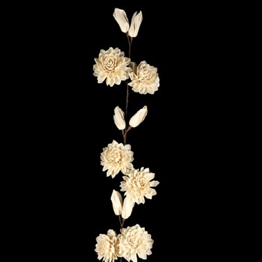 Sola Folded Flower With Buds Stick 90cm