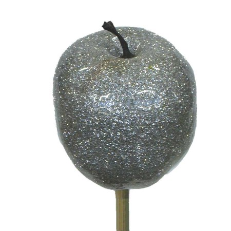 Apple Metallic 'Silver with silver glitter'