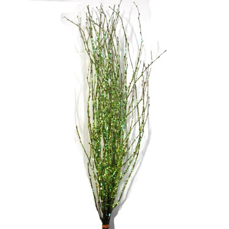 Birch Branch 55 cm 'green large glitter' Betula pendula
