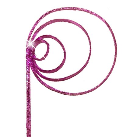 Cane coil 'pink pink glitter'