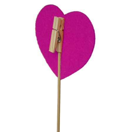 Clothespeg with heart on stem 'pink'